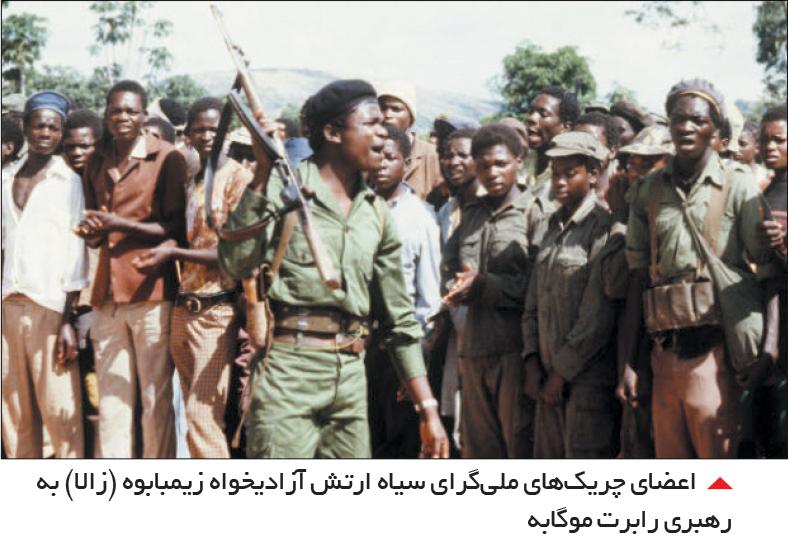 تجارت- فردا- اعضای چریکهای ملیگرای سیاه ارتش آزادیخواه زیمبابوه (زالا) به رهبری رابرت موگابه