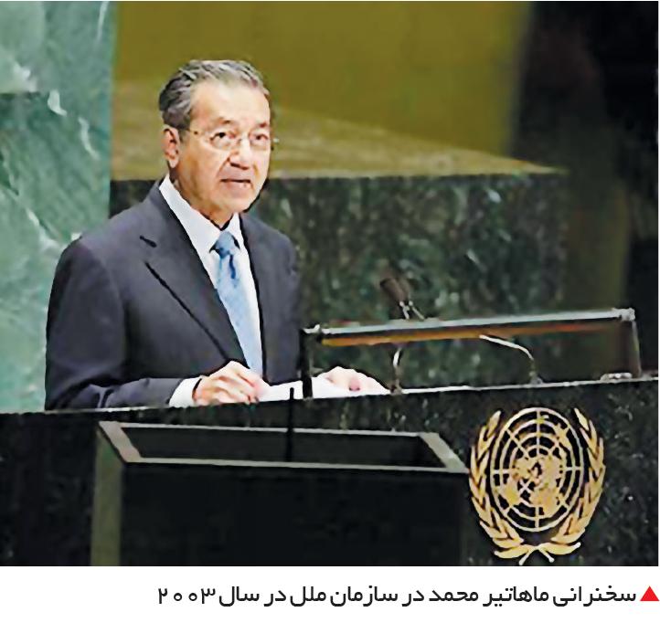 تجارت- فردا-  سخنرانی ماهاتیر محمد در سازمان ملل در سال 2003