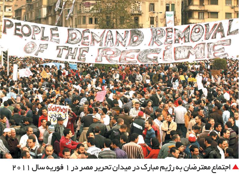 تجارت- فردا-  اجتماع معترضان به رژیم مبارک در میدان تحریر مصر در 1 فوریه سال 2011