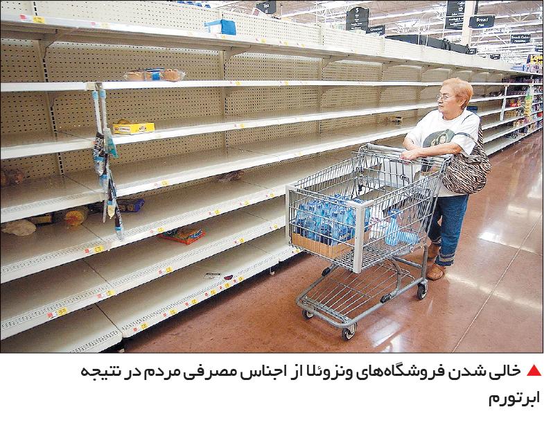 تجارت- فردا- خالی شدن فروشگاههای ونزوئلا از اجناس مصرفی مردم در نتیجه ابرتورم
