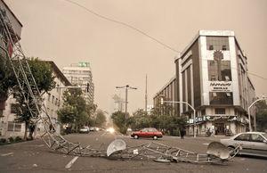 توفان تهران را ترساند