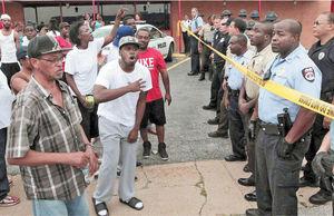اعتراض به قتل جوان سیاهپوست